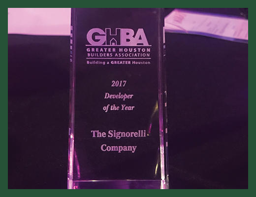GHBA Developer of the Year Award