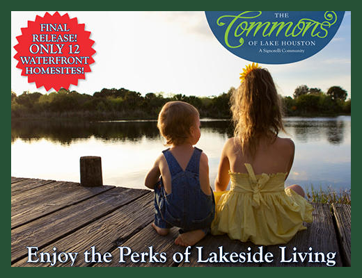 The Signorelli Company Announces Final Release of Waterfront Lots at The Commons of Lake Houston