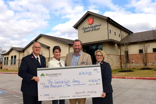 Conroe Courier: Signorelli Company, community helps Salvation Army overcome $70K shortfall