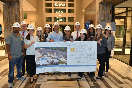 The Pointe at Valley Ranch Town Center Celebrates Topping Out