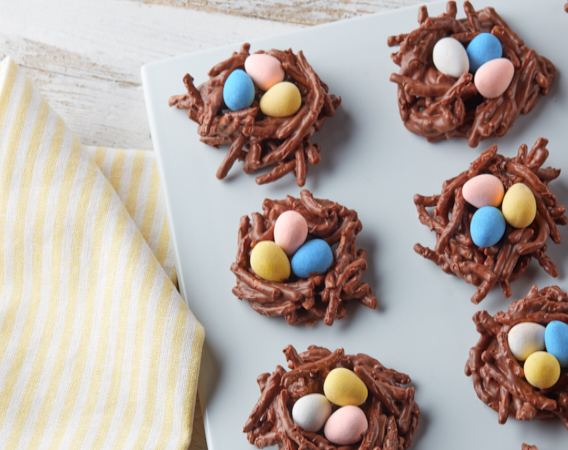 No Bake Cadbury Birds Nest Cookies